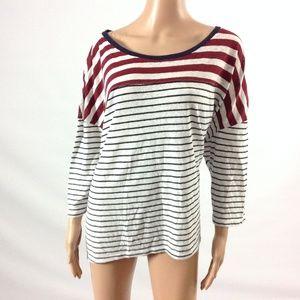 Lane Bryant Women's Black Striped Top Size 22/24M